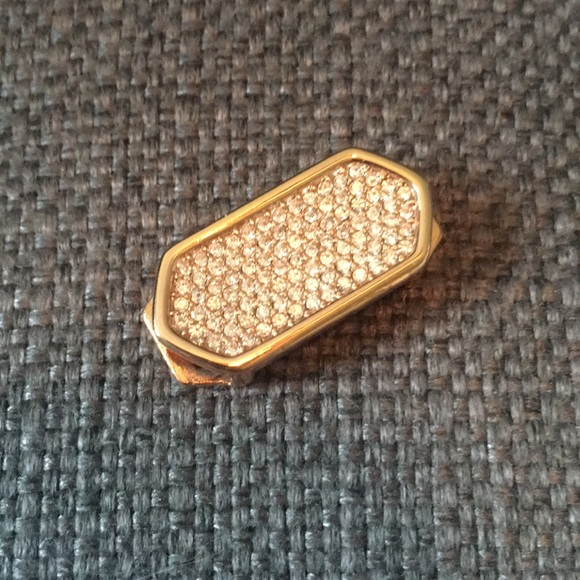 KEEP Collective Jewelry - Rose Gold Pave Geo Bar